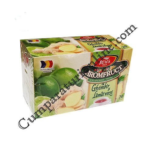 Ceai ghimbir si lamai verzi Aromafruct Fares 20x2 gr.