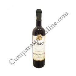Vin rosu Domeniile Samburesti Merlot sec 0,75l.