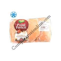 Pulpe pui dezosate cu piele congelate Puiul fericit Agricola pret/kg.