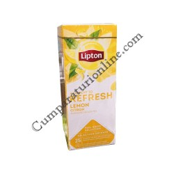 Ceai negru cu lamaie Lipton Refresh 25 pl.