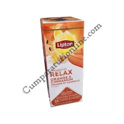 Ceai portocala si scortisoara Lipton Relax 25 pl.
