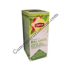 Ceai verde cu fructe rosii Lipton Balance 25 pl.