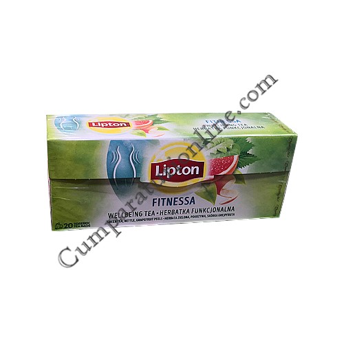 Ceai verde fructat Lipton Fitnessa 20 pl.
