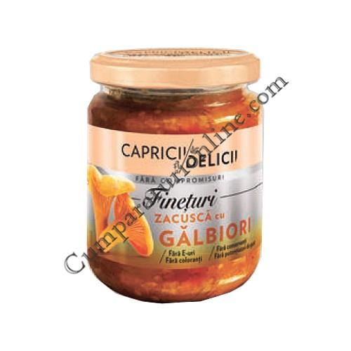 Zacusca cu galbiori Capricii si Delicii 250 gr.