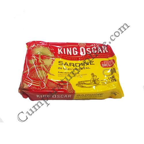 Sardine in ulei vegetal King Oscar 110 gr.