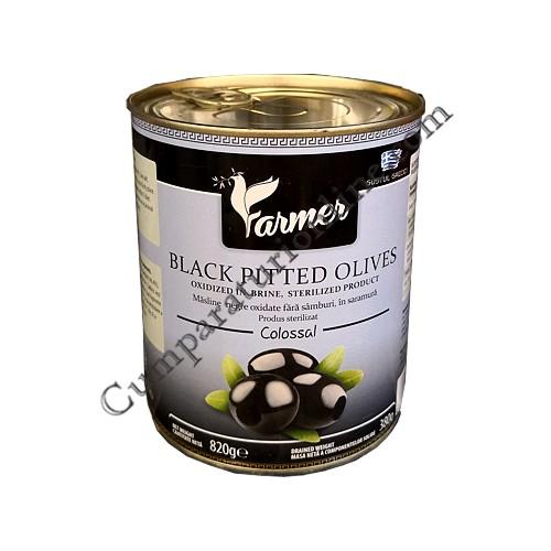 Masline negre fara samburi Colosal Farmer 820 gr.