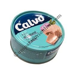 Ton bucati in sos natur Calvo 160 gr.
