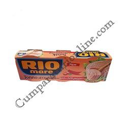 Ton picant in ulei de masline Rio Mare 3x80 gr. pret/buc.