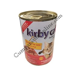Hrana umeda pisici pui cu sos Kirby Cat 415 gr.