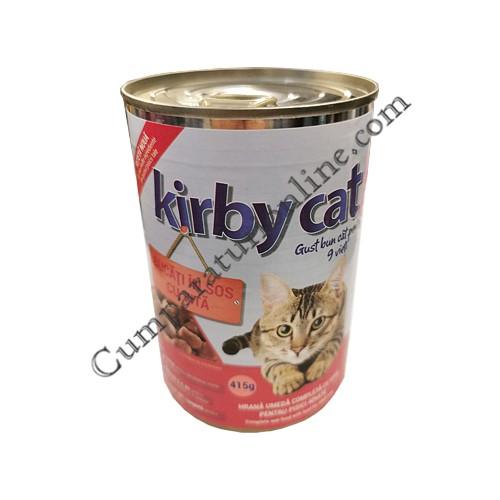 Hrana umeda pisici vita cu sos Kirby Cat 415 gr.