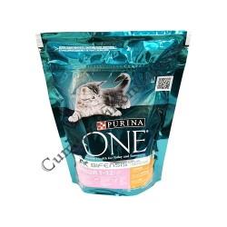 Hrana uscata pisici junior 1-12 cu pui Purina One 200 gr.