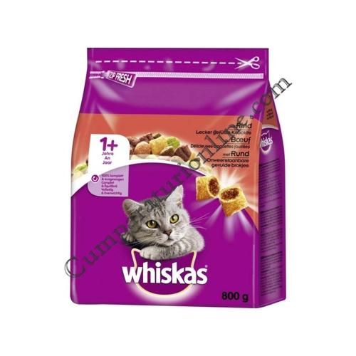Hrana uscata pisici Whiskas 800 gr. vita