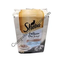 Selectii de peste si legume Sheba Delices du Jour 6x50gr.