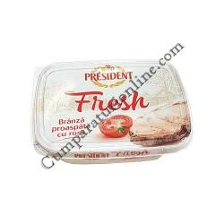 Crema de branza cu rosii Fresh President 125 gr.