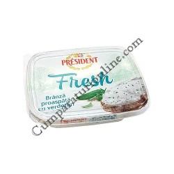 Crema de branza cu verdeturi Fresh President 125 gr.