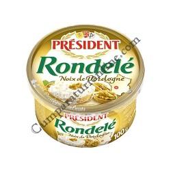 Crema de branza aerata cu nuci President Rondele 100 gr.