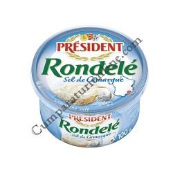 Crema de branza aerata cu sare President Rondele 100 gr.