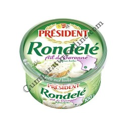 Crema de branza aerata cu usturoi si ierburi President Rondele 100 gr.