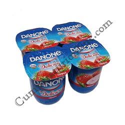 Iaurt capsuni Danone Delicios 125 gr.