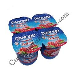 Iaurt zmeura Danone Delicios 125 gr.