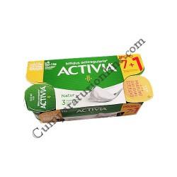 Iaurt Activia Natur Danone 125 gr. 7+1 gratis pret/buc.