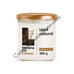 Iaurt natural 5% Laptaria cu caimac 300 gr.