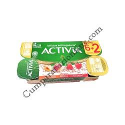 Iaurt Activia musli capsuni piersici Danone 125 gr. 7+1 gratuit