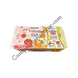 Iaurt capsuni caise Danone Delicios 125 gr. 71 gratuit