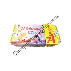 Iaurt mar biscuiti stafide fructe de padure Danone Delicios 125 gr. 71 gratuit