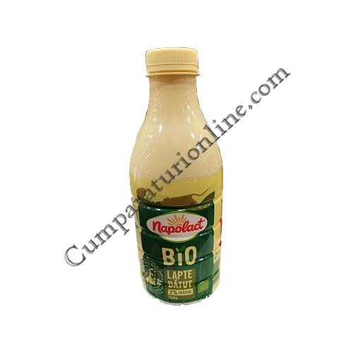 Lapte batut BIO 2% Napolact 750 ml.