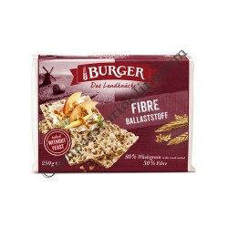 Paine crocanta din faina integrala de tarate si seminte Burger Fibre 250 gr.