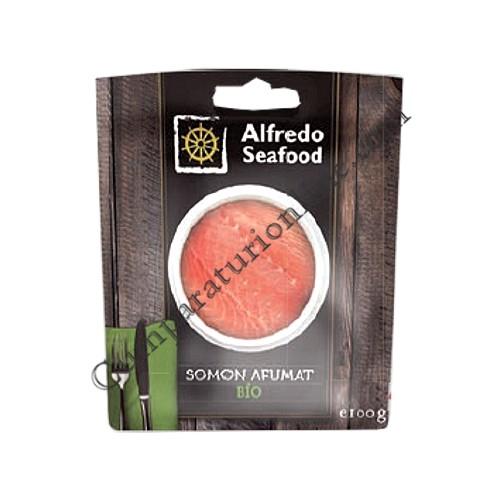 Somon afumat Bio Alfredo Seafood 100 gr.