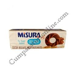 Biscuiti dietetici cu cacao si alune de padure Misura 95 gr.