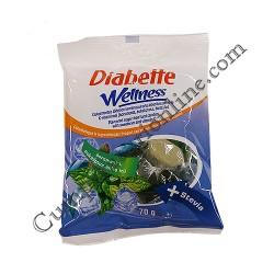 Bomboane fara zahar cu vitamina C si aroma mentolata Diabette Wellness 70 gr.