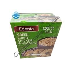 Carne de pui in sos curry verde si taietei Edenia 320 gr.