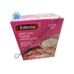 Carne de pui in sos teriyaki cu ardei iute-dulce si orez Edenia 350 gr.