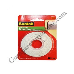 Banda scotch dublu adeziva 12,7 mm.x 1,9 m. 3M