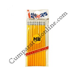 Creioane Grafit cu radiera ICO 10 buc./set pret/buc.