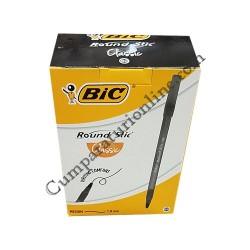 Pix BIC Round Stic Classic negru varf 1 mm. 60 buc./set pret/buc.