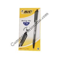 Pix BIC Round Stic Clic negru 20 buc./set pret/buc.