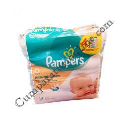 Servetele umede Pampers Naturally Clean 4x64 buc.