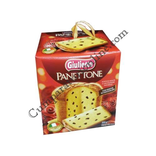 Panettone cu stropi de ciocolata Giulietta 500 gr.