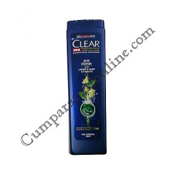 Sampon Clear Men 24H Fresh cu extract de menta si lamaie 250 ml.