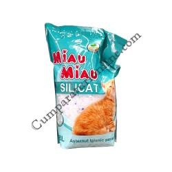 Asternut igienic pentru pisici Miau-Miau Silicat 3,8 l.