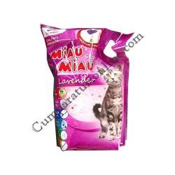 Asternut igienic pentru pisici Miau-Miau Silicat Lavanda 3,8 l.
