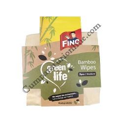 Lavete bambus biodegradabile Green Life 35x35cm Fino 3 buc