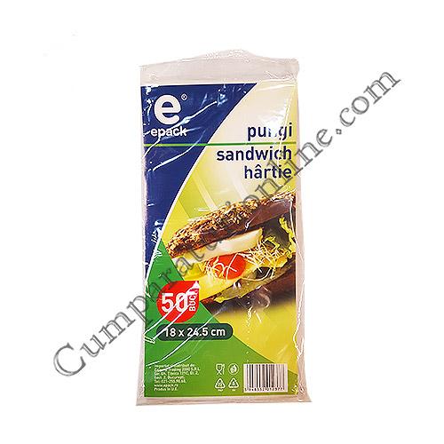 Pungi sandwich hartie ePack 50 buc.
