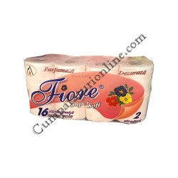 Hartie igienica Fiore Super Soft parfumata 2 str. 16 role