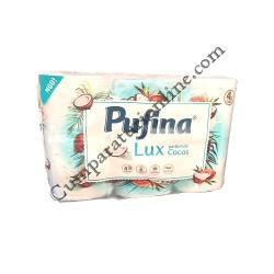 Hartie igienica Parfum de Cocos Pufina Lux 4 str. 6 role