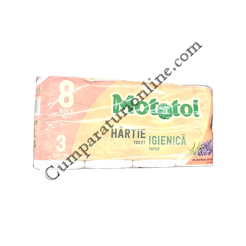 Hartie igienica Parfum de Lavanda Mototol 3 str. 8 role